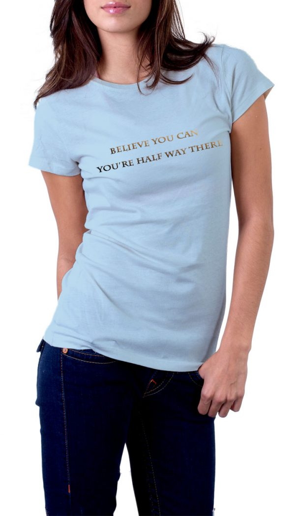 Believe you can light-blue