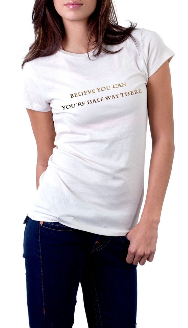 Believe you can-white